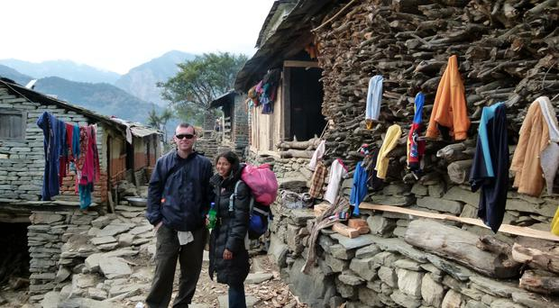 Ian Brown and his wife Gita pictured in Nepal