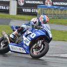 Alastair Seeley (Tyco BMW Motorrad Racing) during Tuesday's practice for the North West 200 Road races