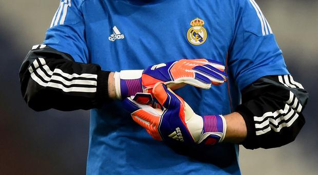 GELSENKIRCHEN, GERMANY - FEBRUARY 17: Goalkeeper Iker Casillas is seen during a Real Madrid training session ahead of their UEFA Champions League match against FC Schalke 04 at Veltins Arena on February 17, 2015 in Gelsenkirchen, Germany. (Photo by Lars Baron/Bongarts/Getty Images)