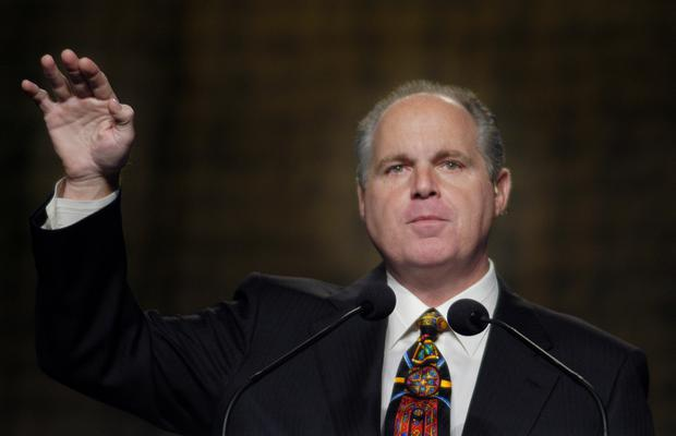 Radio talk show host Rush Limbaugh told listeners: 'Don't say anything about