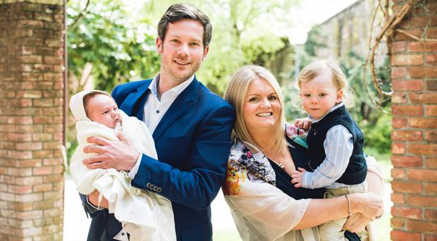 Peace of mind: Nuala and Jonathan Murphy with son Conrad