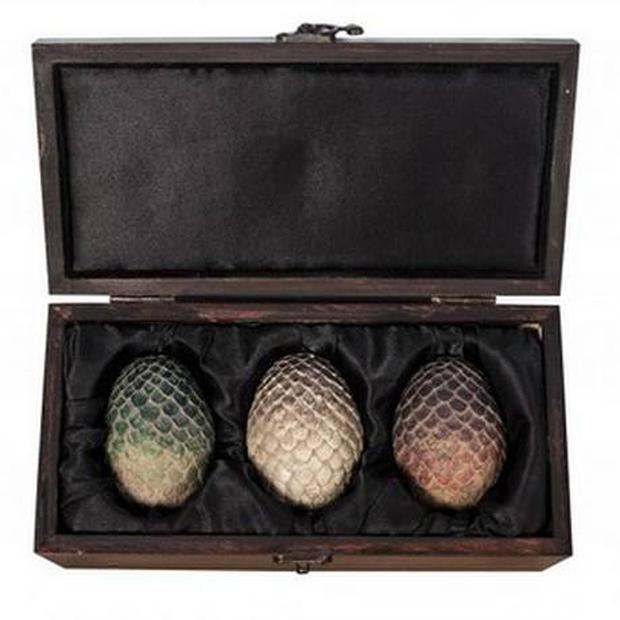 Replica of the Game of Thrones dragon eggs