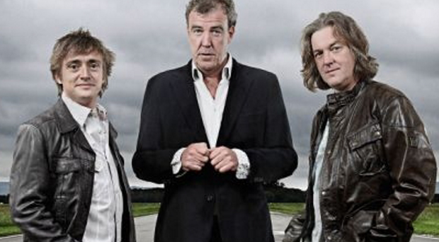 Jeremy Clarkson (centre) with his sidekicks James May (left) and Richard Hammond