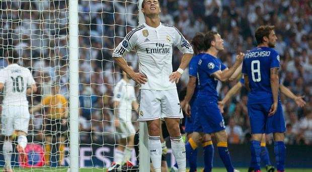 Frustration: Real Madrid's Cristiano Ronaldo reacts after a missed chance