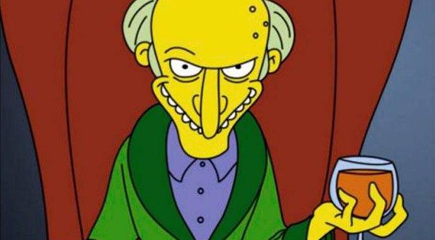 The Simpsons' Mr Burns is voiced by Harry Shearer