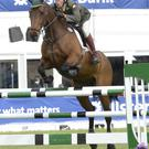Jump to it: Lt David Power on Dollanstown in the Connolly's Red Mills International Spectacular on day two of the Balmoral Show