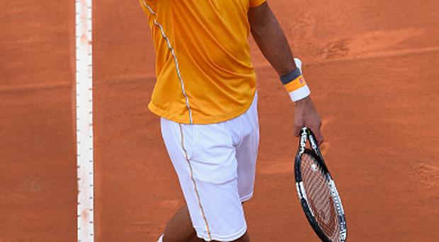 Delighted: Novak Djokovic clinches the win