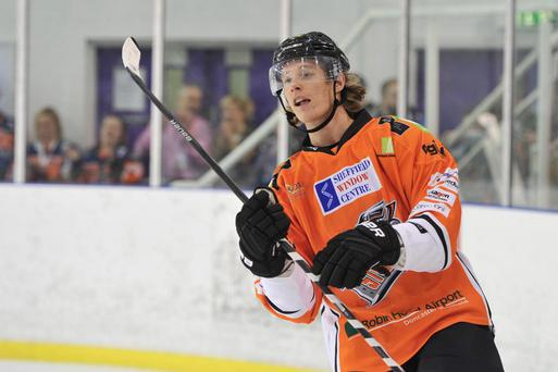On his way: Mike Forney will be a Belfast Giants player next season after switching from the Sheffield Steelers