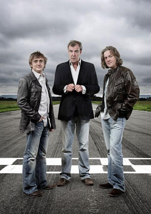 Jeremy Clarkson and his fellow presenters Richard Hammond and James May
