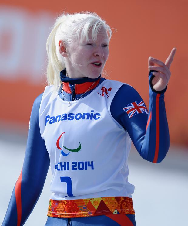 Pointing the way: Kelly Gallagher has plans for the 2018 Winter Paralympics