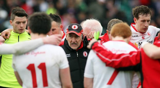Leading the charge: Mickey Harte blooded fresh championship faces against Donegal