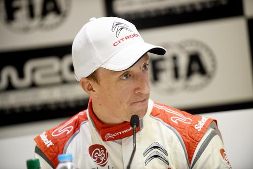 Relaxed: Kris Meeke is feeling less pressure after a WRC win