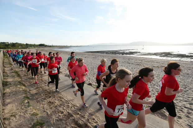 Press Eye - Belfast - Northern Ireland - 22 May 2015 Belfast Telegraph Runher Coastal Challenge Runners take part in the event. Picture by Kelvin Boyes / Press Eye.