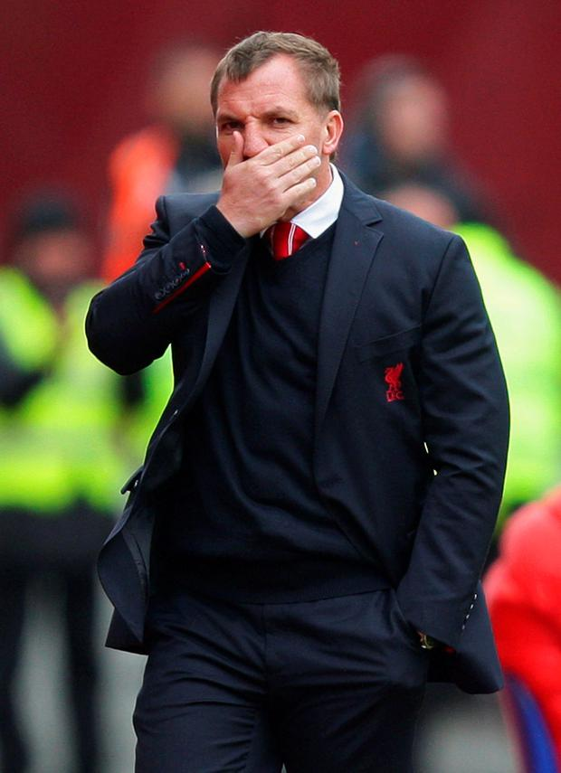 Under pressure: Brendan Rodgers has accepted his future at the club is in doubt but the club is not ready to wield the axe