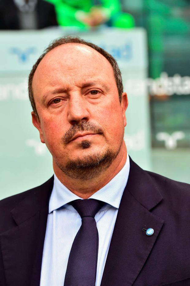 Napoli's coach from Spain Rafael Benitez looks on prior the Italian Serie A football match Juventus vs Napoli on May 23, 2015 at the Juventus stadium in Turin. AFP PHOTO / GIUSEPPE CACACEGIUSEPPE CACACE/AFP/Getty Images