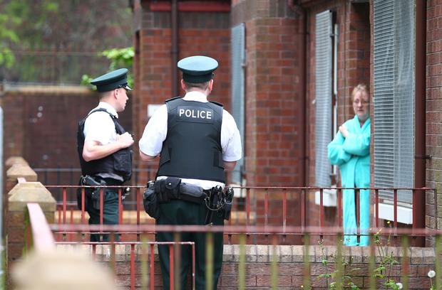 A secondary device in the Strand Walk area of East Belfast where a device was thrown into the back garden of a house last night and a fresh one discovered. Picture - Kevin Scott / Presseye