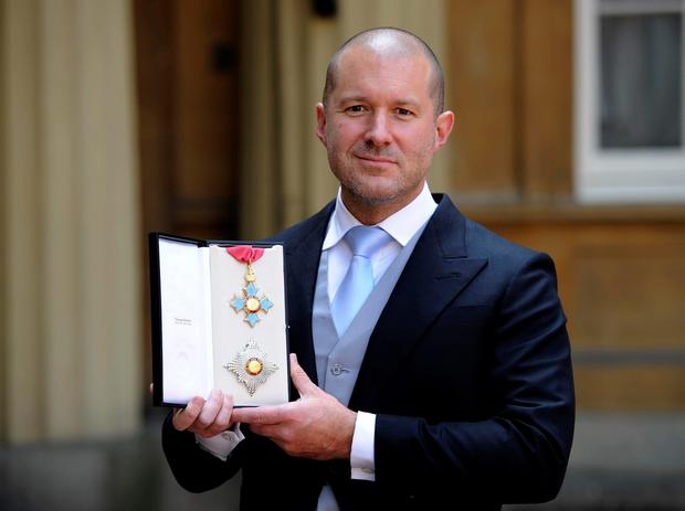 Sir Jonathan Ive after picking up his Knighthood