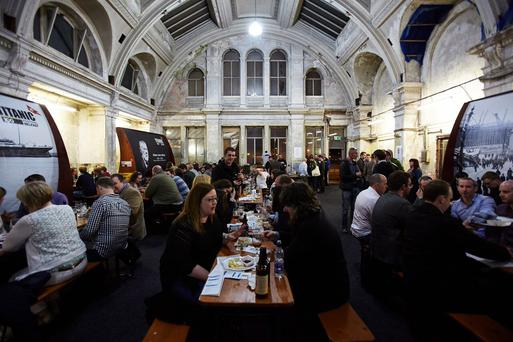 ABV15 beer festival at the former Harland & Wolff drawing offices in Titanic Quarter