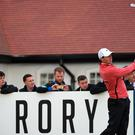 McIlroy hosted the tournament at Royal County Down this year. (Photo by Ross Kinnaird/Getty Images)