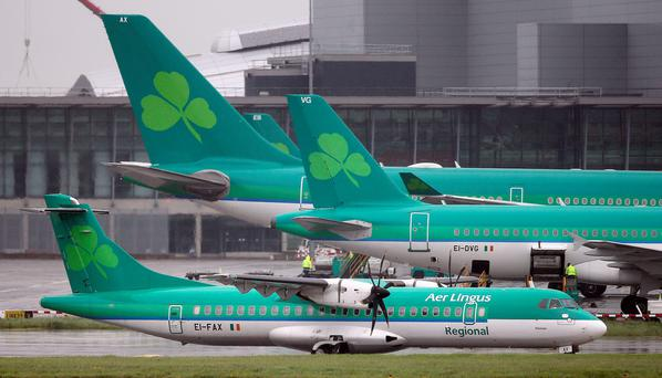Aer Lingus shareholders have backed resolutions to pave the way for the airline's takeover