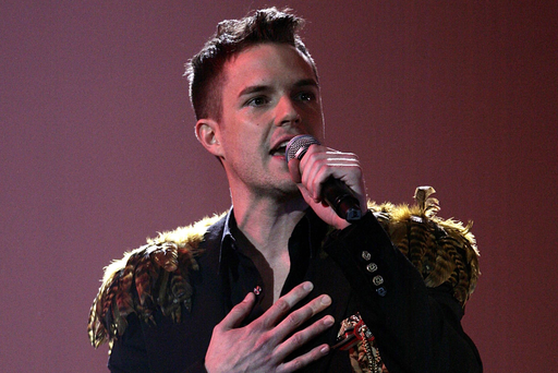 Clean living: Brandon Flowers has been teetotal for almost 10 years
