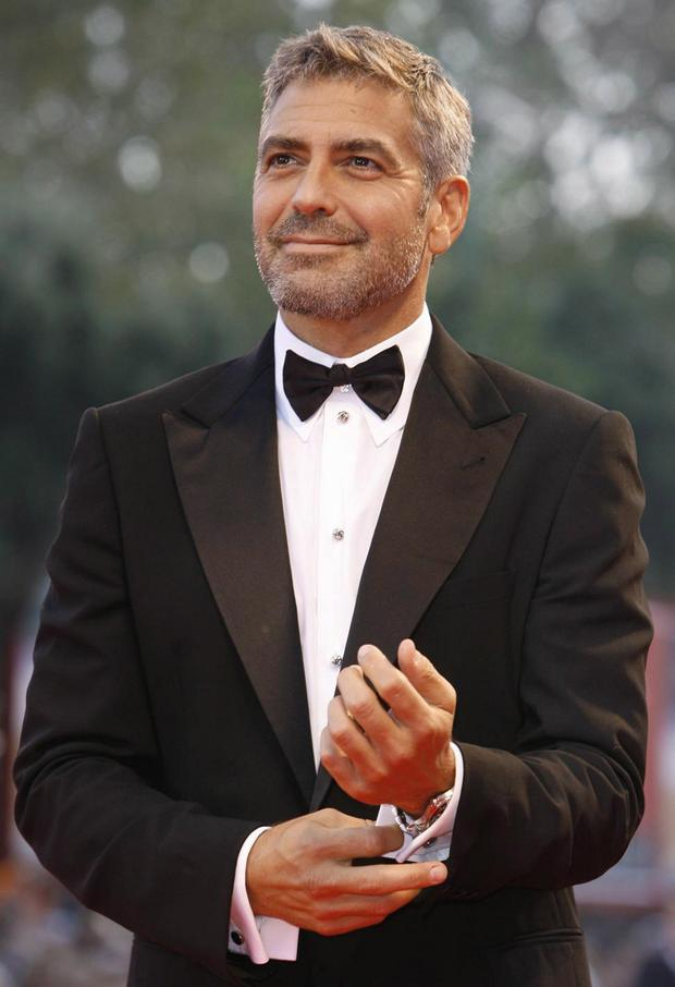 Looking good: George Clooney advocates growing old gracefully