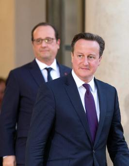 Dinner: Hollande and Cameron