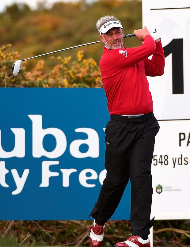 Up and down: Darren Clarke endured a mixed second round