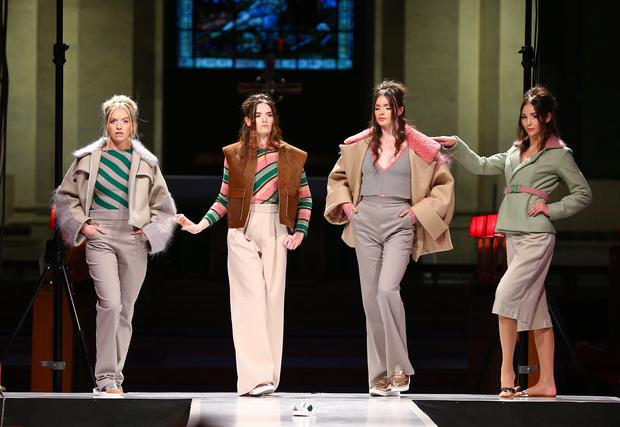 Ulster University's School of Arts Graduate Fashion Show at St Anne's Cathedral. Models from Style Academy on the catwalk Friday 29th May 2015. Picture by Kevin Scott / Belfast Telegraph