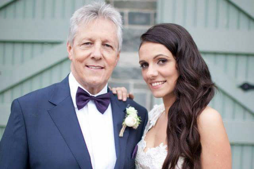 Peter Robinson with his daughter Rebekah on her wedding day