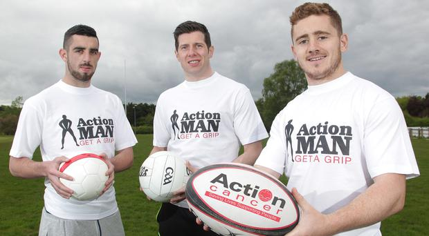 Cliftonville Striker Joe Gormley, Tyrone Gaelic Star Sean Cavanagh and Rugby Professional Paddy Jackson urge men to Get a Grip of their health.