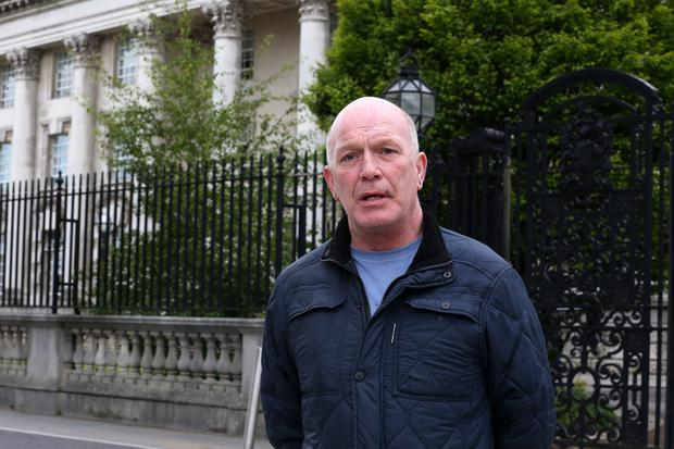 Abuse victim Gary Hoy outside Belfast High Court. June 1 2015. Picture by Presseye