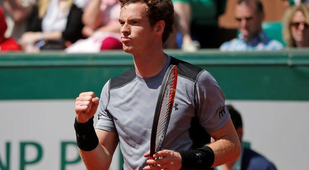 Job done: Andy Murray hails his win over Jeremy Chardy
