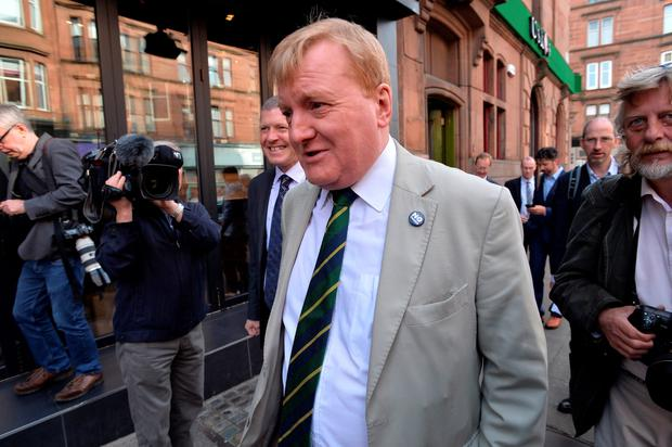 Charles Kennedy MP, on the campaign trail on Byres Road as the Referendum debate on September 11, 2014 in Glasgow.