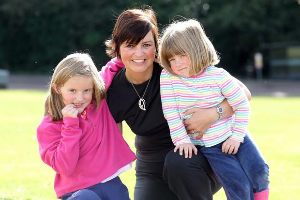 Life's lessons: presenter Denise Watson with her daughters Samantha and Beth