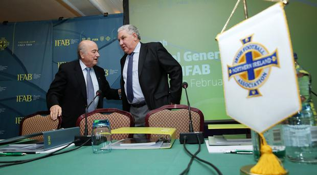 Long relationship: Sepp Blatter and Jim Boyce have known each other for over 20 years during their time at Fifa Picture by Kelvin Boyes / Press Eye