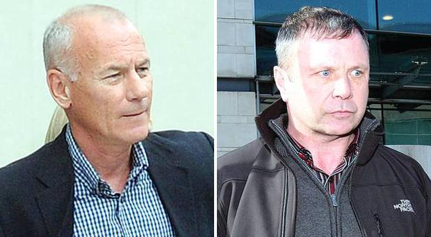 Padraic Wilson (left) and Sean Hughes were due to go on trial in Belfast accused of belonging to the IRA