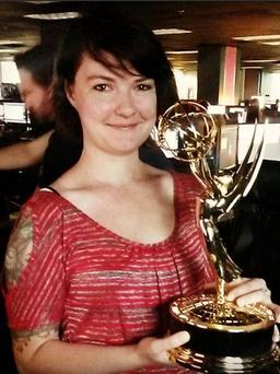 Chappell's photo of her holding an Emmy for Game of Thrones (Instagram)