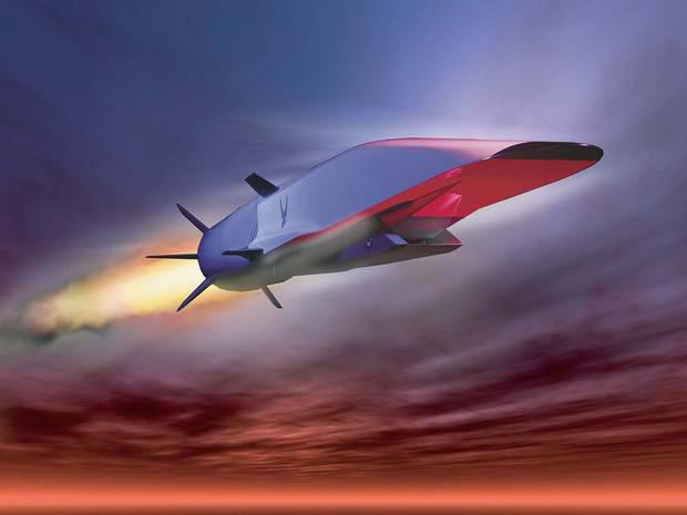 X-51 WaveRider drops out of the bottom of a bomber and can fly many times the speed of sound