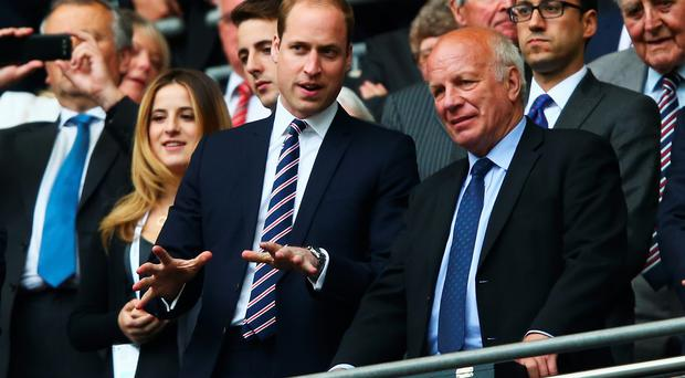 One is not amused: Prince William tries to lighten the mood with his world famous Tommy Cooper impressionany