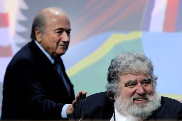 Chuck Blazer (right) with Sepp Blatter. AFP/Getty Images