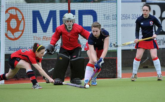 Great Scot: Lucy Camlin (centre) has been called up by Scotland and will soon be eligible to play for them