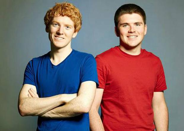Stripe was founded by Limerick brothers Patrick (left) and John Collison