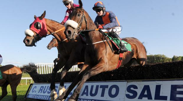 Hat-trick hero: Paul Carberry on way to completing his Downpatrick hat-trick on Fort Smith despite bid byTom's Article