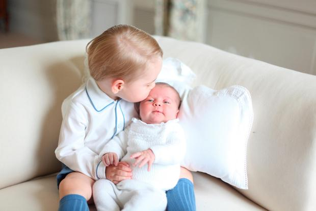 Photograph of Prince George and Princess Charlotte taken by the Duchess in mid-May at Anmer Hall in Norfolk. Picture: Duchess of Cambridge.