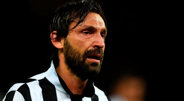 Andrea Pirlo of Juventus looks dejected after the UEFA Champions League Final between Juventus and FC Barcelona at Olympiastadion on June 6, 2015 in Berlin, Germany.