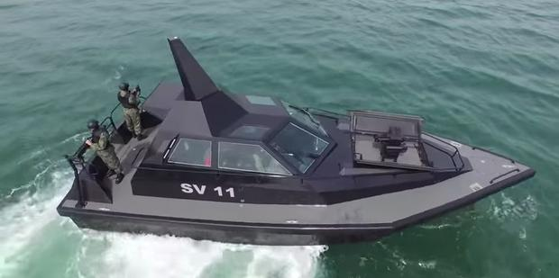 This speedy stealth gunboat by Frank Kowalski is right out of Bond, and right out of Youghal, Co Cork. Image: Frank Kowalski /YouTube