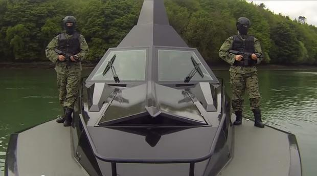 Weapon systems are concealed below deck. Image: Frank Kowalski /YouTube