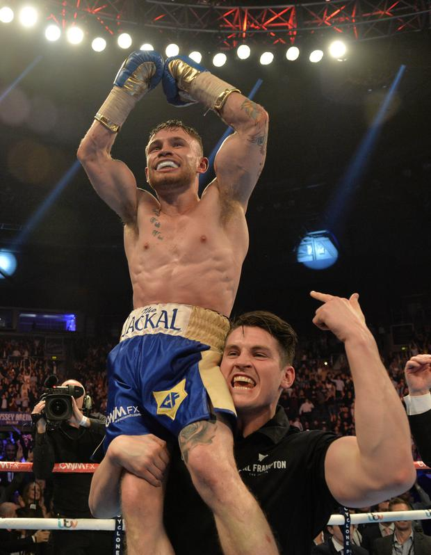 American dream: Carl Frampton will defend his IBF World super-bantamweight title in Texas next month