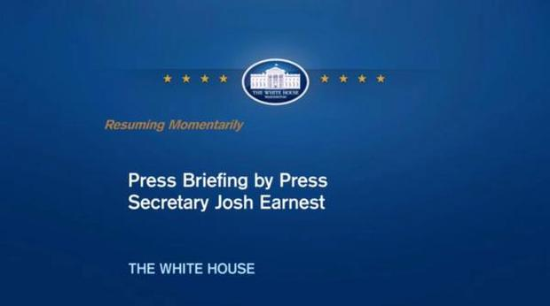 Secret Service interrupted a White House press briefing by John Earnest